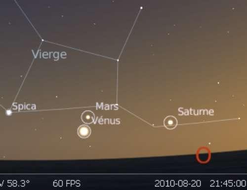 Les planètes Vénus et Mars sont en rapprochement