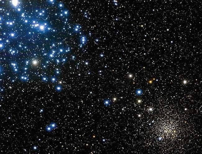 M 35 (à gauche) et NGC 2158. Crédit Canada-France-Hawaii Télescope