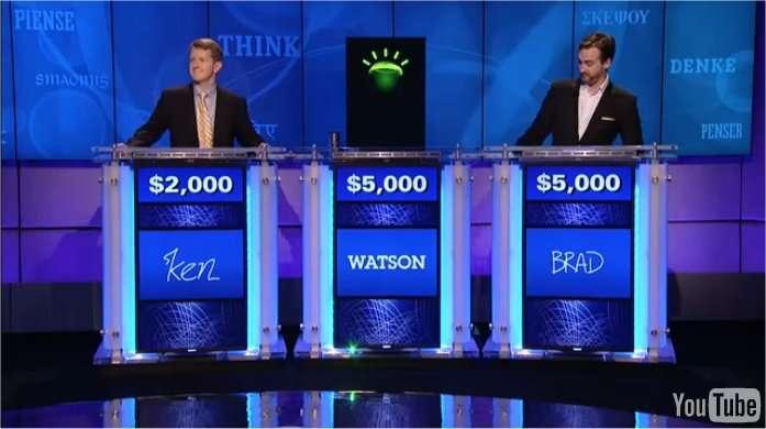 Watson sur le plateau du jeu télévisé Jeopardy. © IBM/YouTube