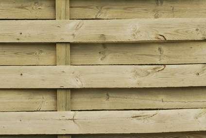 Palissade en bois. © c-chez-marc