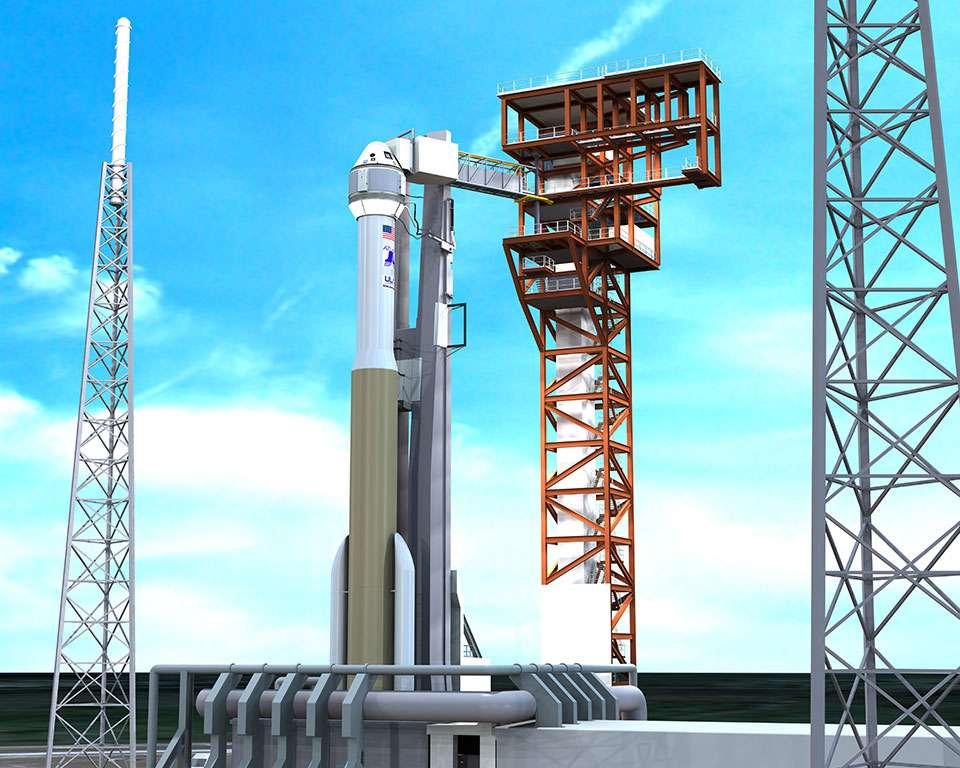 Boeing révélera en mai le nom du lanceur choisi pour propulser sa capsule CST-100. © Boeing