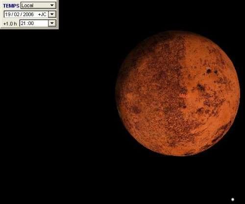 Plus forte phase gibbeuse de la planète Mars