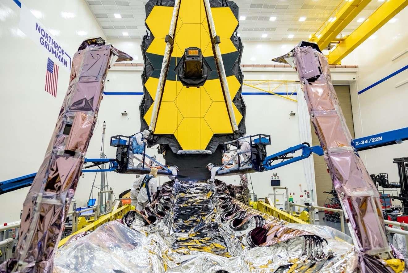 Le télescope spatial James Webb (JWST) doit être lancé en 2021 pour remplacer Hubble. © Nasa, Chris Gunn