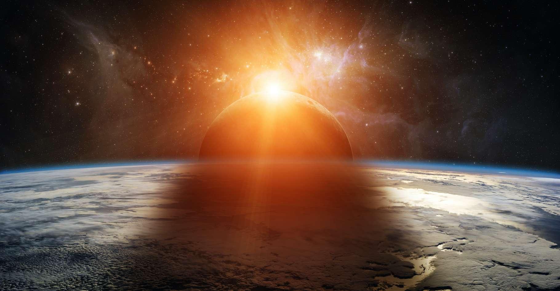 Ce lundi 14 décembre 2020, le Soleil a rendez-vous avec la Lune. Une éclipse totale sera visible depuis le Chili et l'Argentine. © sdecoret, Adobe Stock