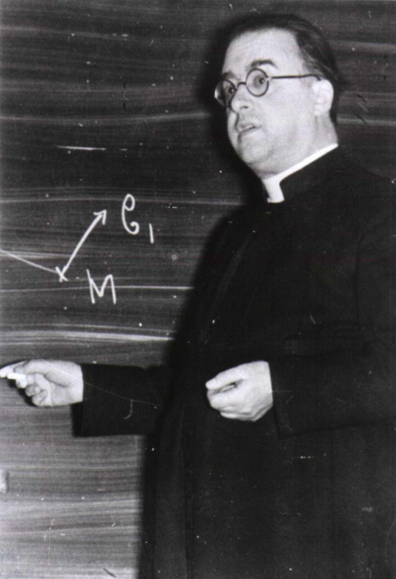 Le cinquième ATV portera le nom du célèbre cosmologiste belge Georges Lemaître. © Université catholique de Louvain