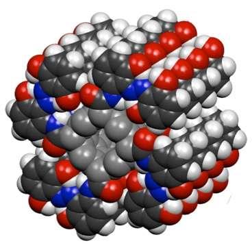 Un nanotube de carbone entouré de molécules d'azobenzène. © Grossman Kolpak