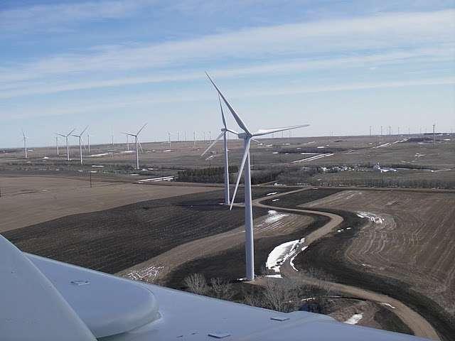 Le parc éolien Ashtabula II (Dakota du Nord, Etats-Unis), investi par le géant de l'informatique. © Google