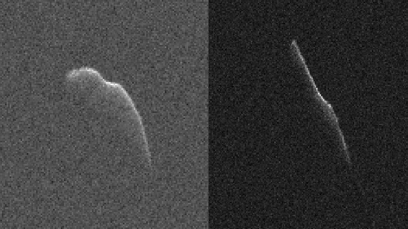Non, ce n'est pas le père Noël, mais 2003 SD220, l'astéroïde qui nous frôle en ce 24 décembre. © Nasa/JPL-Caltech/GSSR