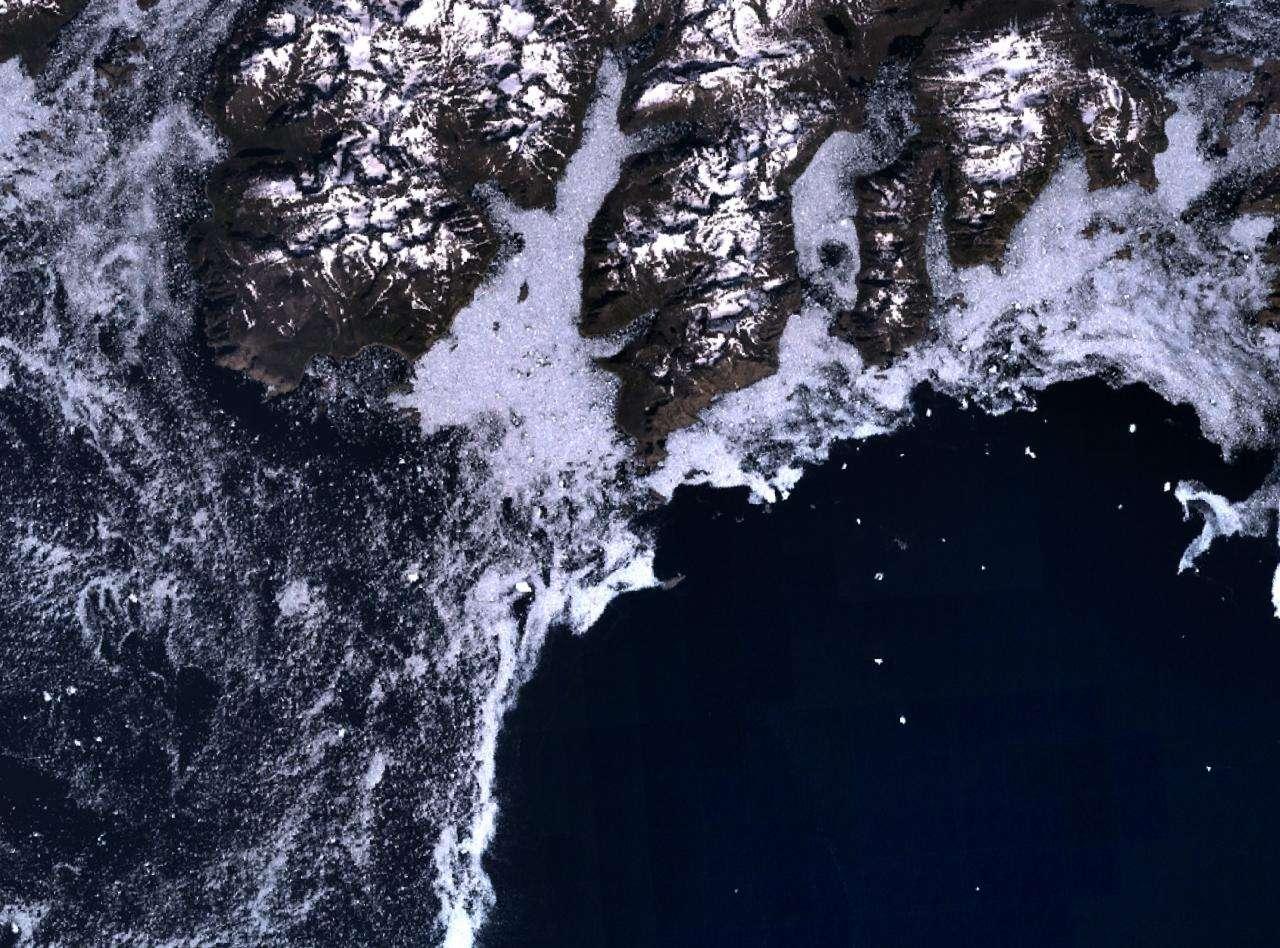 Le Cap Farwell constitue l'extrême pointe sud du Groënland. Image Nasa/Landsat