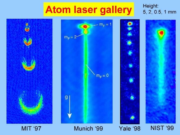 Images de lasers atomiques (Crédit :ARC Centre of Excellence for Quantum-Atom Optics (ACQAO) )