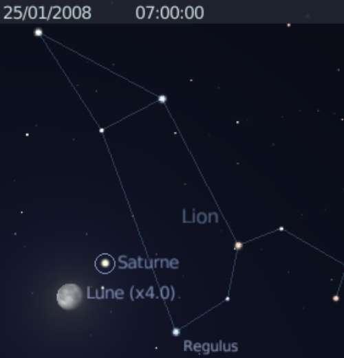 La Lune est au plus près de la planète Saturne