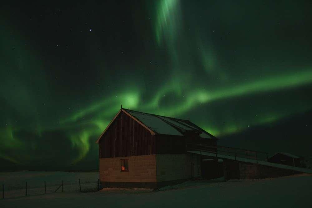 L'aurore boréale photographiée le 27 novembre depuis les îles Lofoten. © Therese van Nieuwenhoven