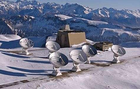 Le radio-interféromètre du plateau de Bure. Crédit IRAM