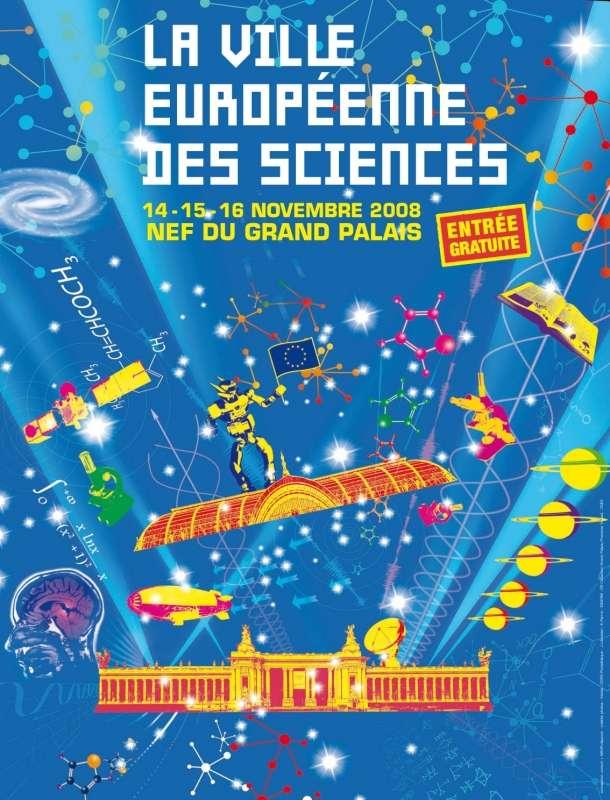 La Ville européenne des sciences, un concentré du monde scientifique au Grand Palais, à Paris.