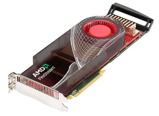 La carte Firestream 9250, la puissance d'un gros ordinateur dans un micro. © AMD