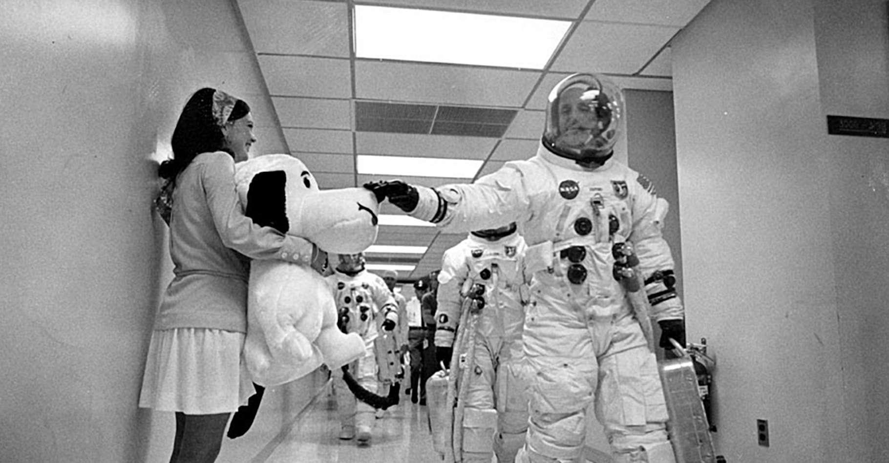 Un module de commande baptisé Charlie Brown et un module lunaire portant le nom de Snoopy. La mission Apollo 10 avait ses mascottes. © Nasa
