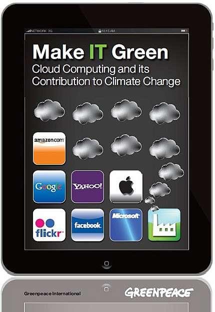 L'an dernier, Greenpeace avait pointé du doigt la consommation des data centers dédiés au cloud computing. © Greenpeace