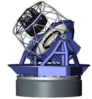 Vue d'atiste du Large Synoptic Survey Telescope