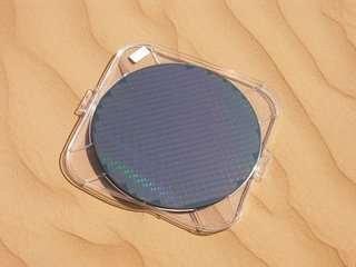 Wafer Intel 300mm : des processeurs Prescott en 90nm.