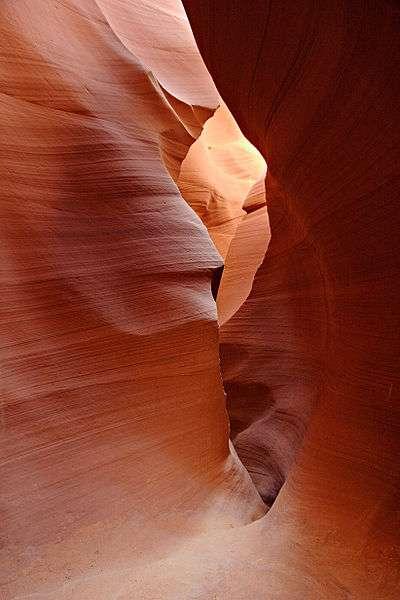Des parois de grès à Antelope Canyon, en Arizona. © Moondigger, CC BY-SA 2.5, Wikimedia Commons