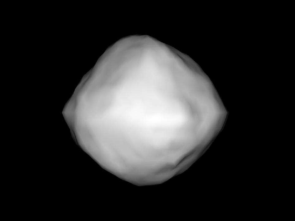 Cette image de l'astéroïde 1999 RQ36 a été générée par ordinateur à partir des données radar fournies par le radiotélescope d'Arecibo. © Nasa/NSF/Cornell/Nolan