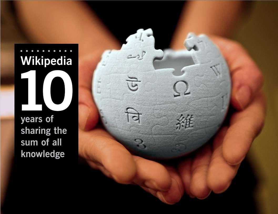 En dix ans, l'encyclopédie en ligne s'est imposée durablement sur le Web. © Wikimedia