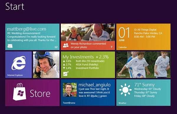 Comme Windows 8, Office 15 abandonnera les menus habituels pour privilégier une interface composée de larges boutons dynamiques. © Microsoft