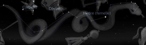 Constellation de l'Hydre femelle