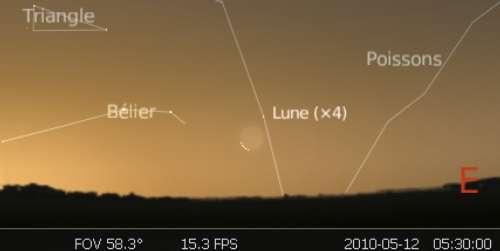 Observez le très fin croissant lunaire juste avant la nouvelle Lune
