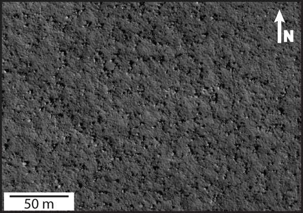 Gros rochers éparpillés dans la région d'Arcadia Planitia, située au sein des grandes plaines de l'hémisphère nord de Mars (60° N 214,068° E). Un vaste océan recouvrait probablement une partie de cet hémisphère voilà 3,2 milliards d'années. © Nasa, JPL, université d'État de l'Arizona