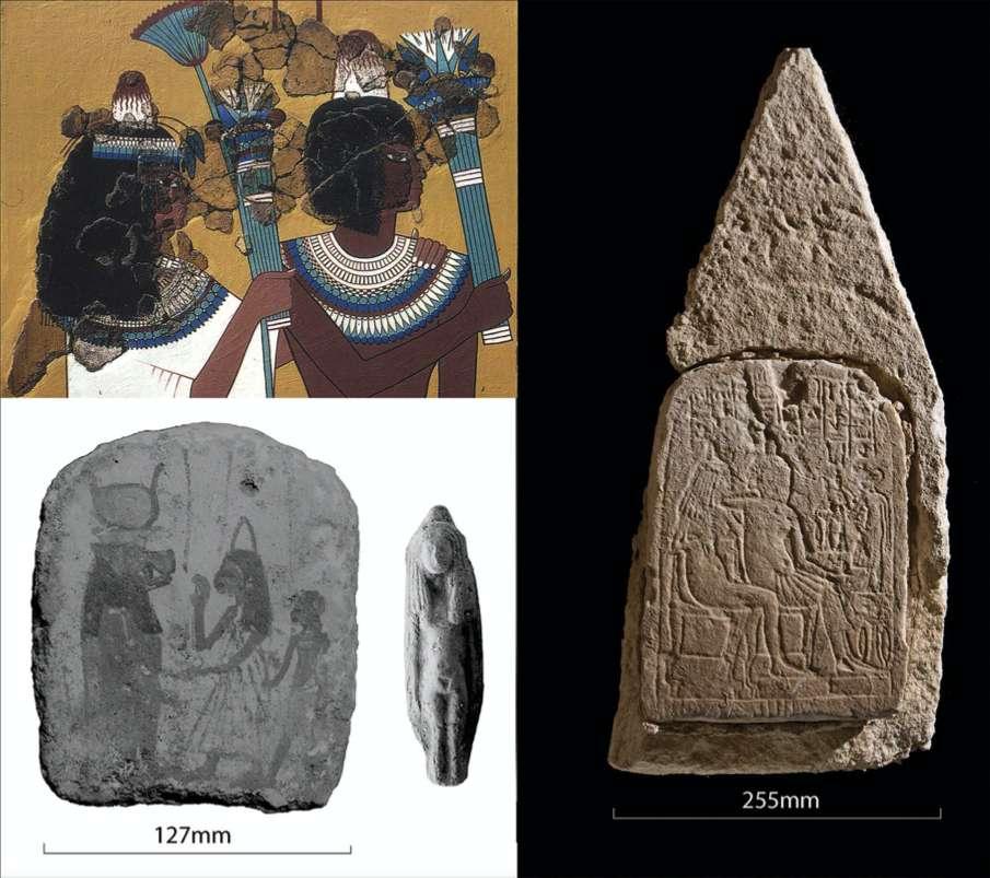 Les égyptologues ont longtemps douté de la véritable existence des petits cônes représentés sur la tête d'hommes et de femmes sur les gravures et sculptures antiques. © Egypt Exploration Society