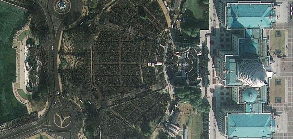 Le Capitole et le National Mall, à Washington, le 20 janvier 2009. Une version haute résolution est disponible. © GeoEye