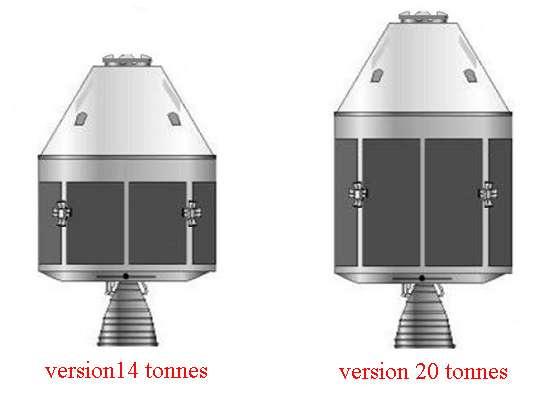 Les deux versions du futur véhicule qui doit succéder aux Shenzhou au début de la décennie prochaine. La plus légère servira en orbite basse mais aussi pour des voyages plus lointains. La version allongée est spécifiquement conçue pour les missions lunaires. © Droits réservés