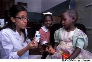 Le nombre d'enfants séropositifs diminue en Afrique. © WHO/Michael Jensen