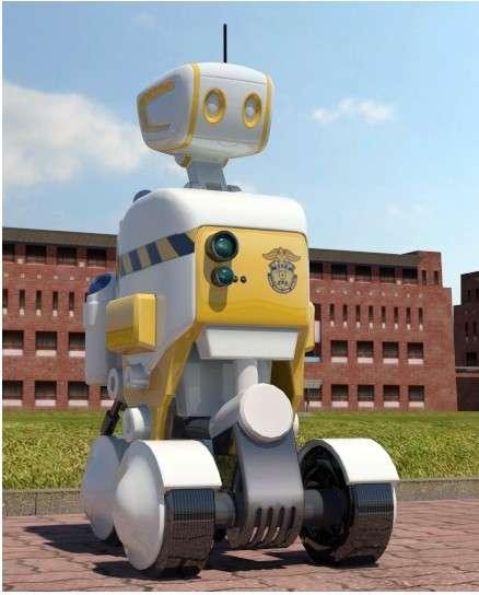 Le design du robot-surveillant conçu par les chercheurs de l'université de Kyonggi a été travaillé afin que les détenus ne le perçoivent pas comme un engin menaçant. © Yonhap