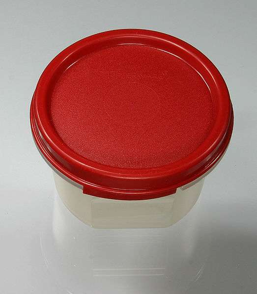 Earl Silas Tupper élabore des petits bols plastiques hermétiques : les Tupperware®. © Elke Vetzig, CC by-sa 3.0, Wikimedia Commons