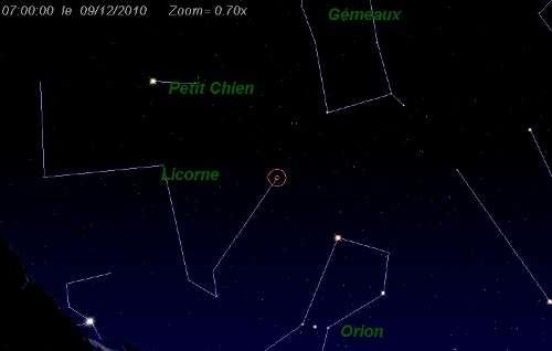 L'essaim d'étoiles filantes des Monocérotides est actif du 27 novembre au 17 décembre. Il doit son curieux nom à la constellation d'où il provient : la constellation de la Licorne, dite Monoceros en latin. © DR