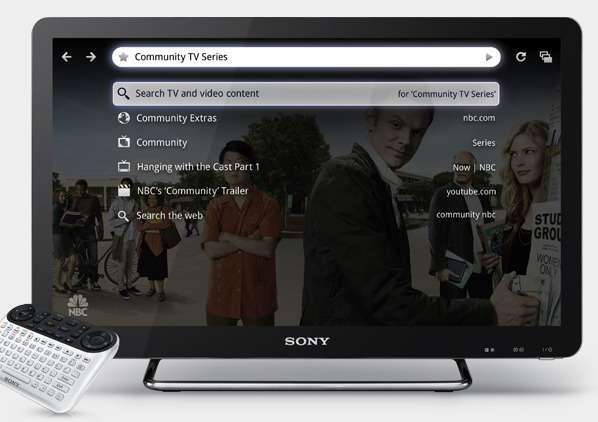 Le Web sur le téléviseur, c'est le choix facile des chaînes de télévision mais aussi de toutes les vidéos d'Internet. © Sony