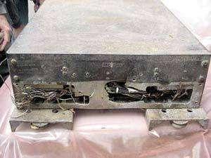 L'enregistreur de données OEX découvert à Hemphill (Texas, sud). Crédits : Nasa