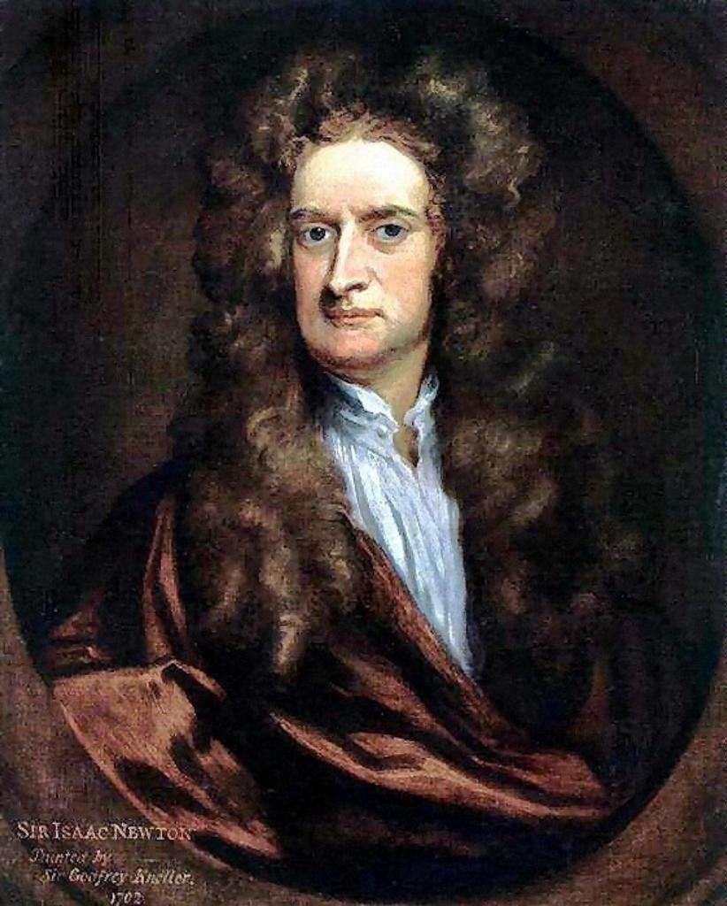 Isaac Newton, en 1702, peint par Sir Godfrey Kneller. Ce people est célèbre, mais pour quelle raison, au fait ?