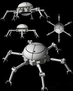 Concept de robot capable d'inspecter la structure extérieure d'un engin spatial et de procéder à quelques réparations - Crédits NASA / JPL-Caltech.