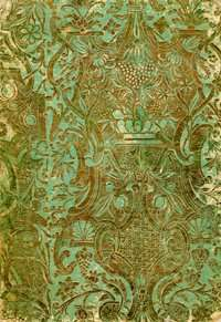 La couverture décorée du livre manuscrit de Copiale. © Kevin Knight/Beáta Megyesi/Christiane Schaefer