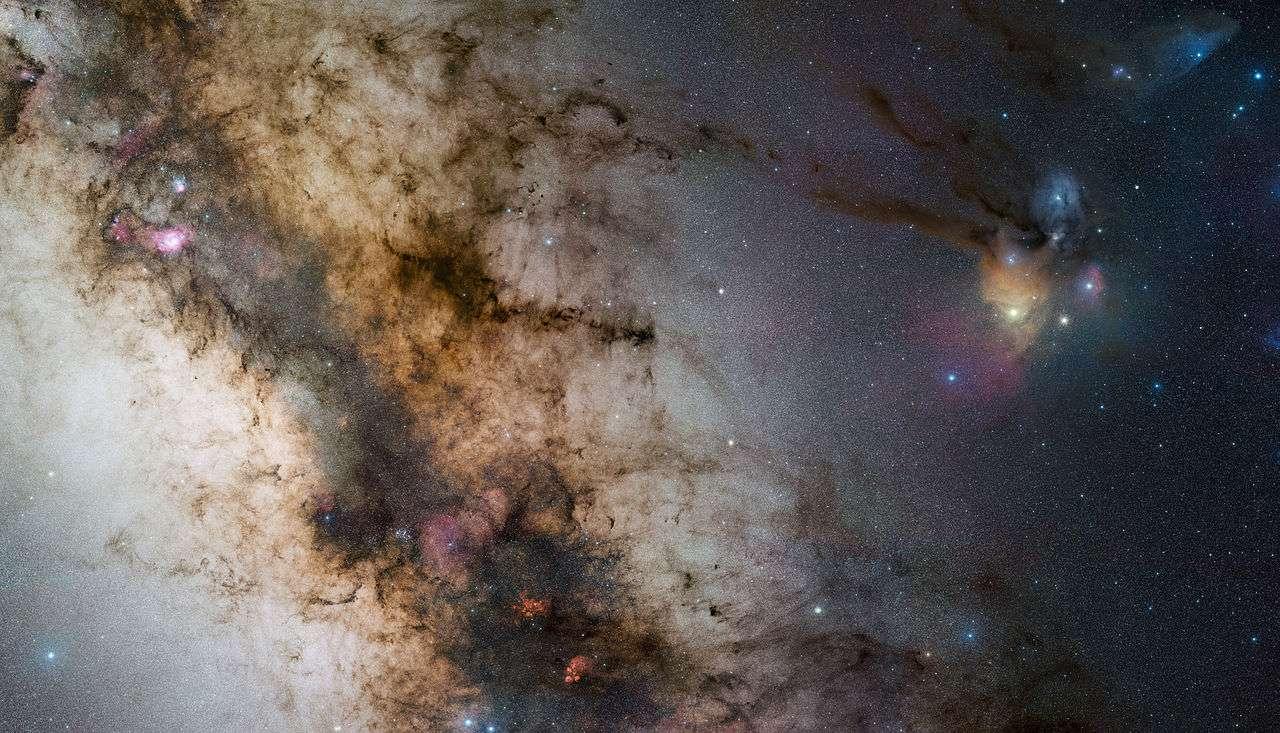Une portion de la Voie lactée vue depuis l'observatoire du Cerro Paranal. © Eso, S. Guisard, cc by 3.0