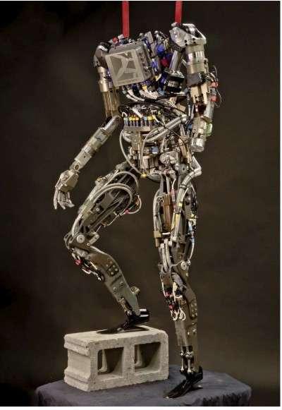 Pet-Proto est une variante musclée de Petman, un robot humanoïde dénué de tête créé par Boston Dynamics pour la Darpa. Ce robot est employé pour évoluer comme un humain dans des conditions extrêmes afin de tester des équipements destinés à la Défense ou pour les situations de catastrophes chimiques, nucléaires ou naturelles. © Boston Dynamics