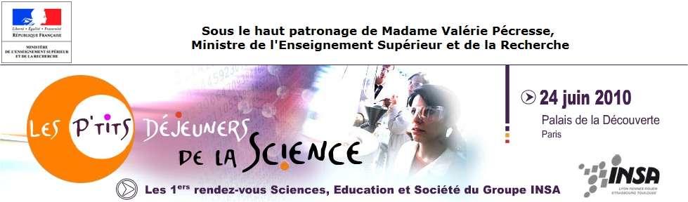 Les troisièmes P'tits déjeuners de la science. © Insa