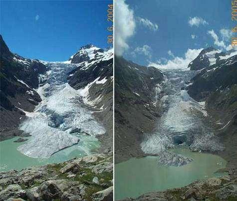 Les glaciers suisses continuent de fondre© SNAT.ch