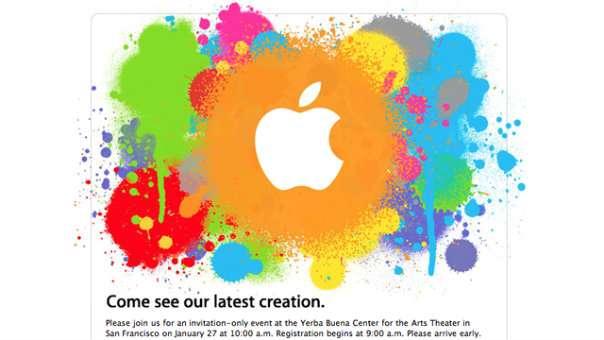« Venez voir notre dernière création » : le carton d'invitation à la conférence de presse envoyé par Apple aux journalistes est des plus laconiques. Cette discrétion, complétée par des fuites savamment orchestrées, a généré un énorme buzz, offrant à Apple une superbe publicité gratuite. © Apple