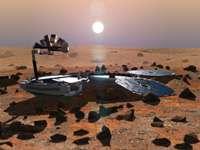 Beagle 2 sur Mars (crédit : ESA)