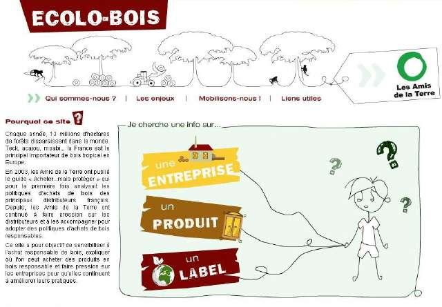 Le site Ecolo-Bois, une bonne adresse pour aller chercher du bois...