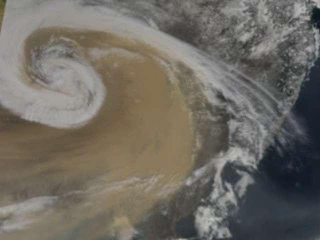 Le nuage brun d'Asie est la plus grosse pollution au monde. © Nasa